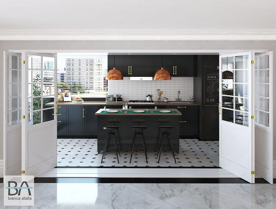 Cooking  Area   vray render by Bianca Atalla - BA Studio