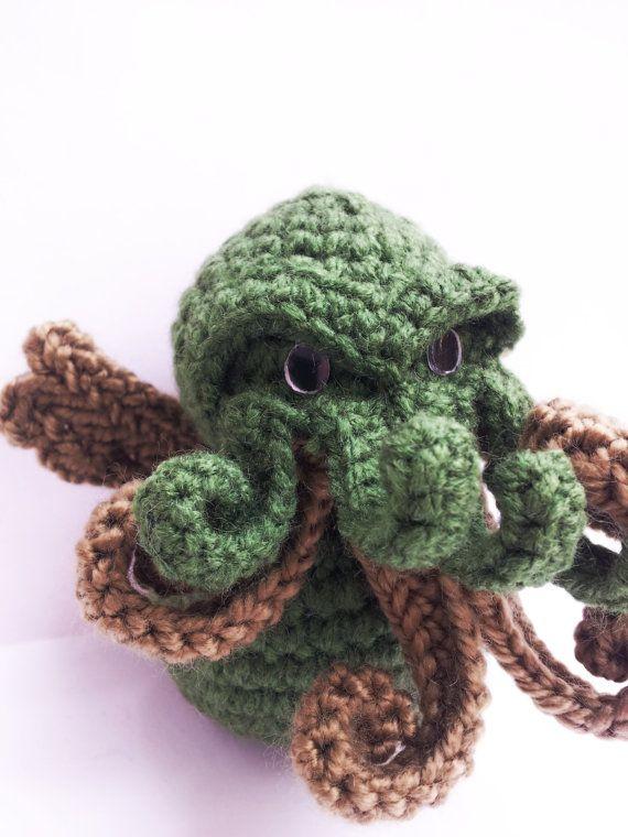 Cthulhu - Cthulu - Lovecraft - Cthulhu toy - cthulhu decor - creppy ...