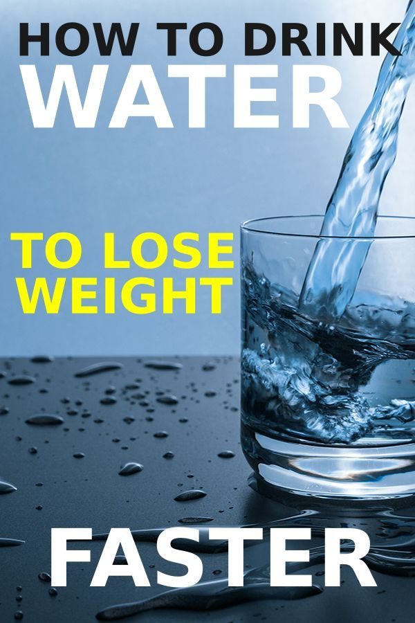 Drinking water can make you lose weight