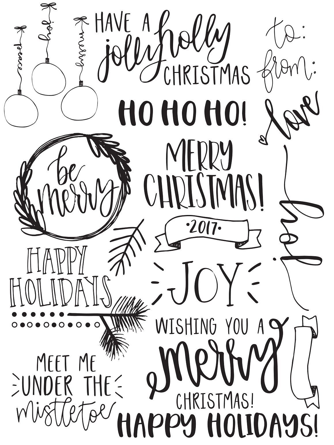Christmas Photo Overlays + Free Font Christmas fonts