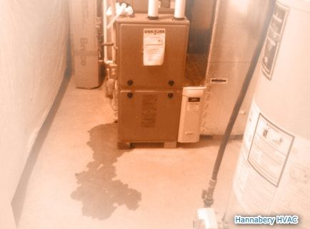 You Should Never See Water Leaking At Bottom Of Furnace Or Indoor Unit Central Air Conditioners Hvac Furnace