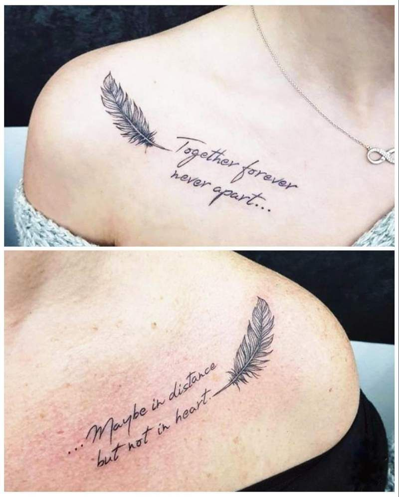 60 Mother Daughter Tattoos for Mothers Day 2020 that zaps this moment – Hike n Dip