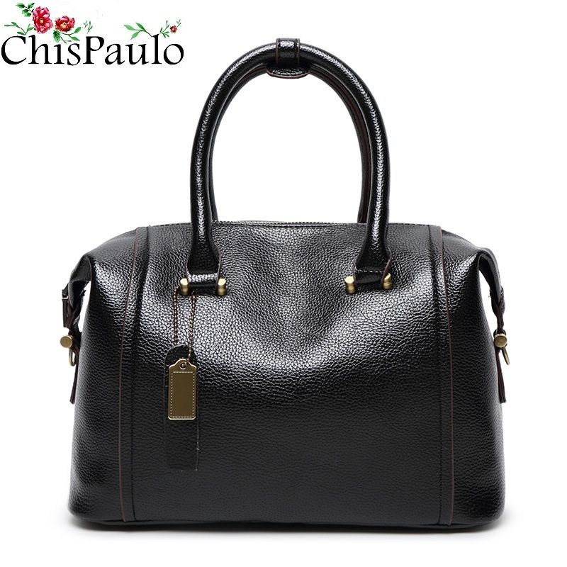 a2560ecfb46c CHISPAULO Famous Brand Designer Handbags High Quality Woman Bag 2017  Fashion Cowhide Genuine Leather Handbags Messenger Bags X38