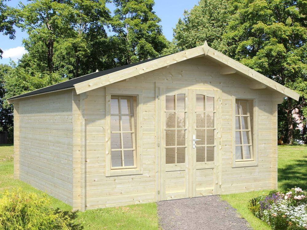 Simple Gartenhaus mm Weimar xm Ger tehaus Ger teschuppen Blockhaus Holz Datsche