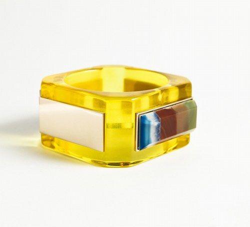 Bracciale giallo con pietre preziose Valentina Brugnatelli 621 euro