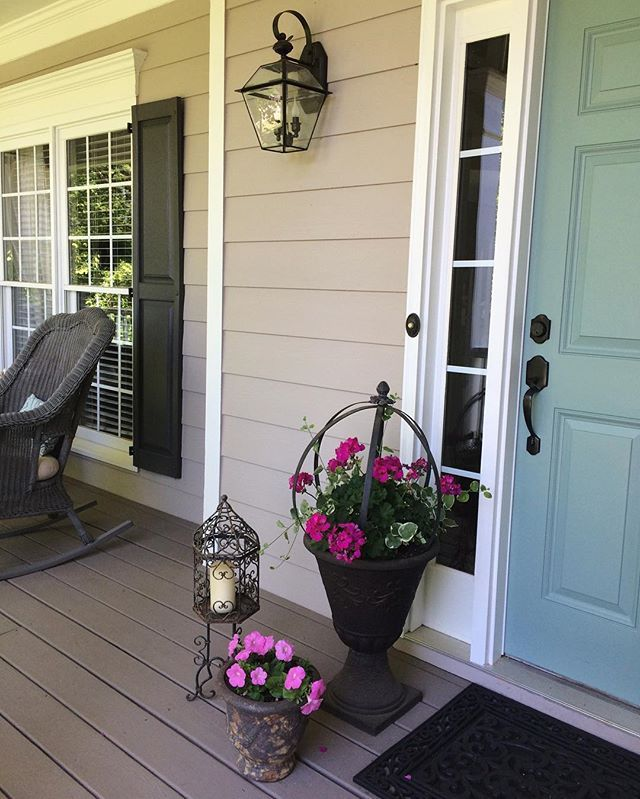 front door  mermaid net by behr  siding  pewterworks by duron  trim  swiss coffee by behr