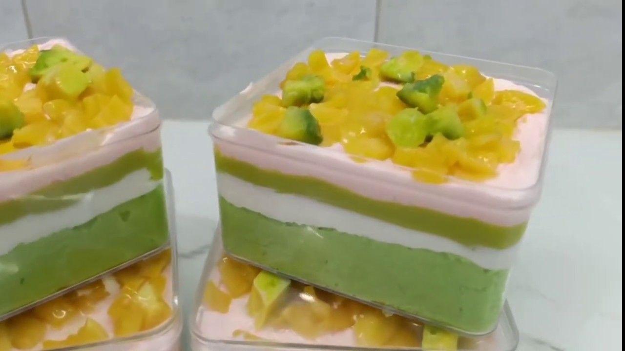 Cara Membuat Cake Es Teler Dessert Box Buka Puasa Ide Makanan Resep Makanan Penutup Makanan Dan Minuman