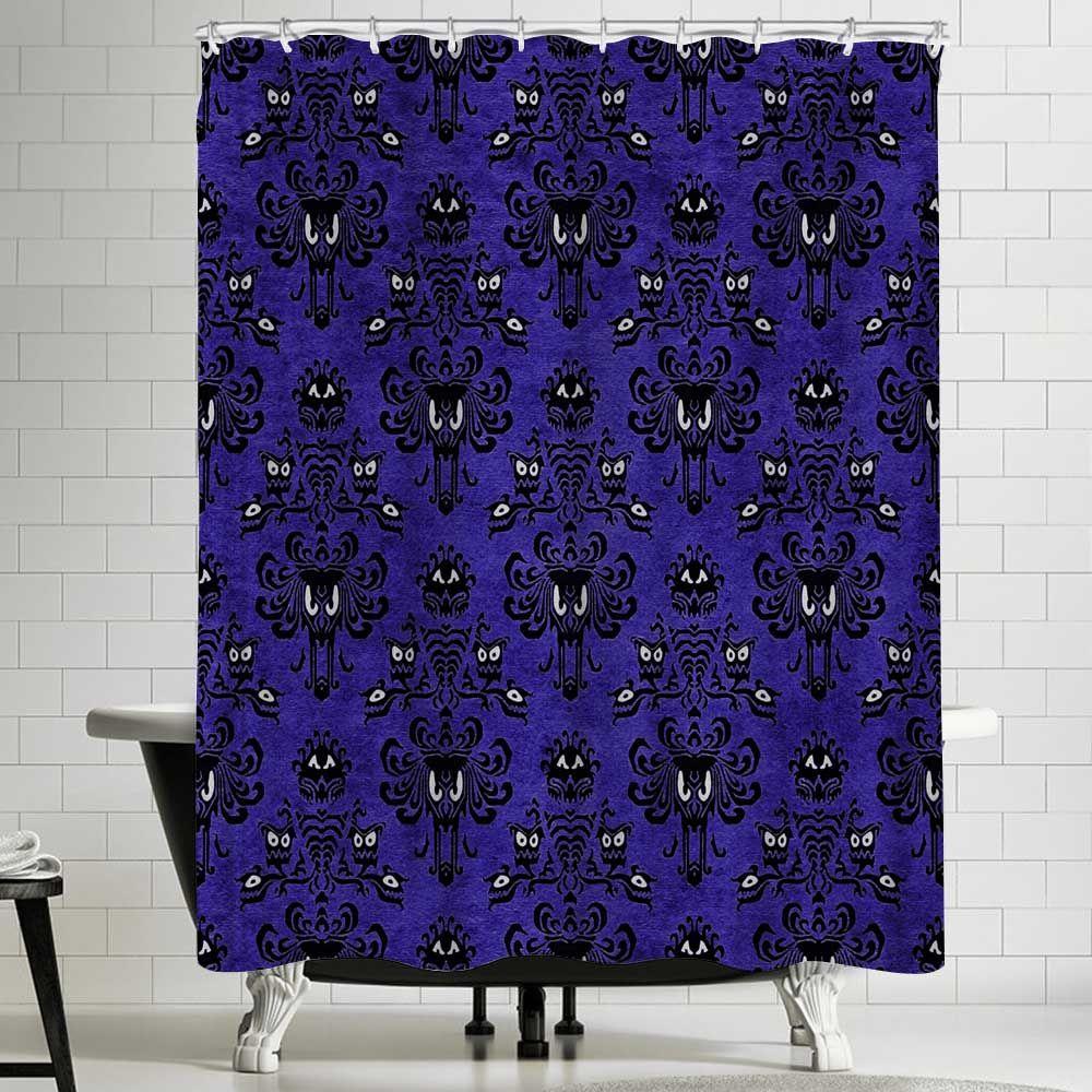 Disney Haunted Mansion Pattern Custom Shower Curtain 100