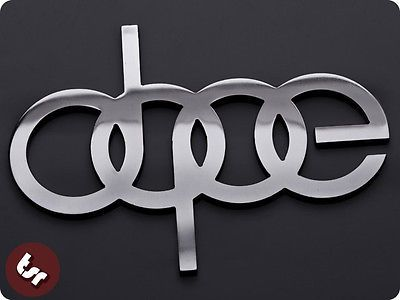 Dope Metal Badge Audidrifteurodub Cnc Billet Car Emblem - Audi car emblem