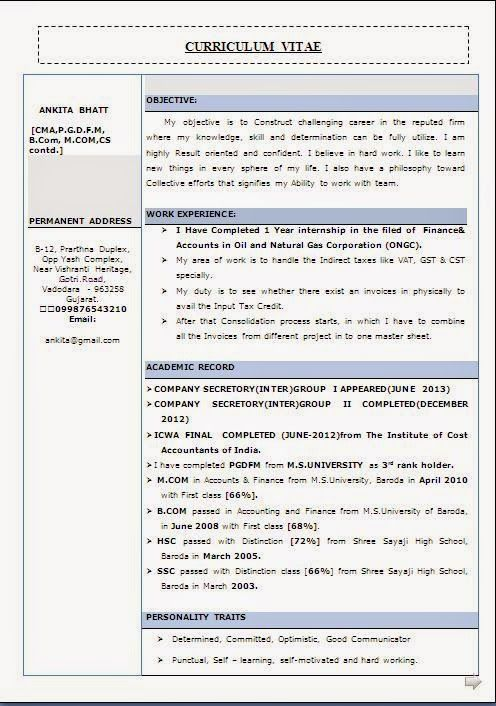 examples of objectives in resume Sample Template Example ofExcellent - free download resume format