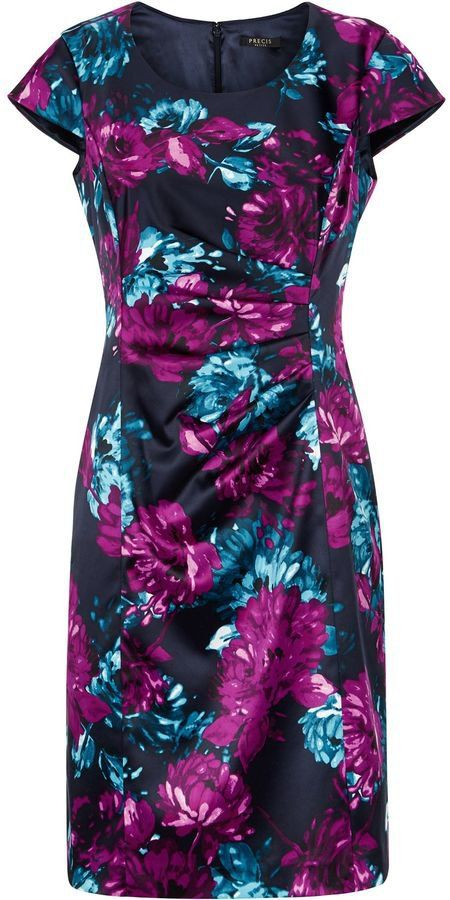 11fa184aa4c3 Pin for Later: The Best Winter Wedding-Guest Dresses For Under £50 House of Fraser  Precis Petite Floral Print Satin Dress House of Fraser Precis Petite ...