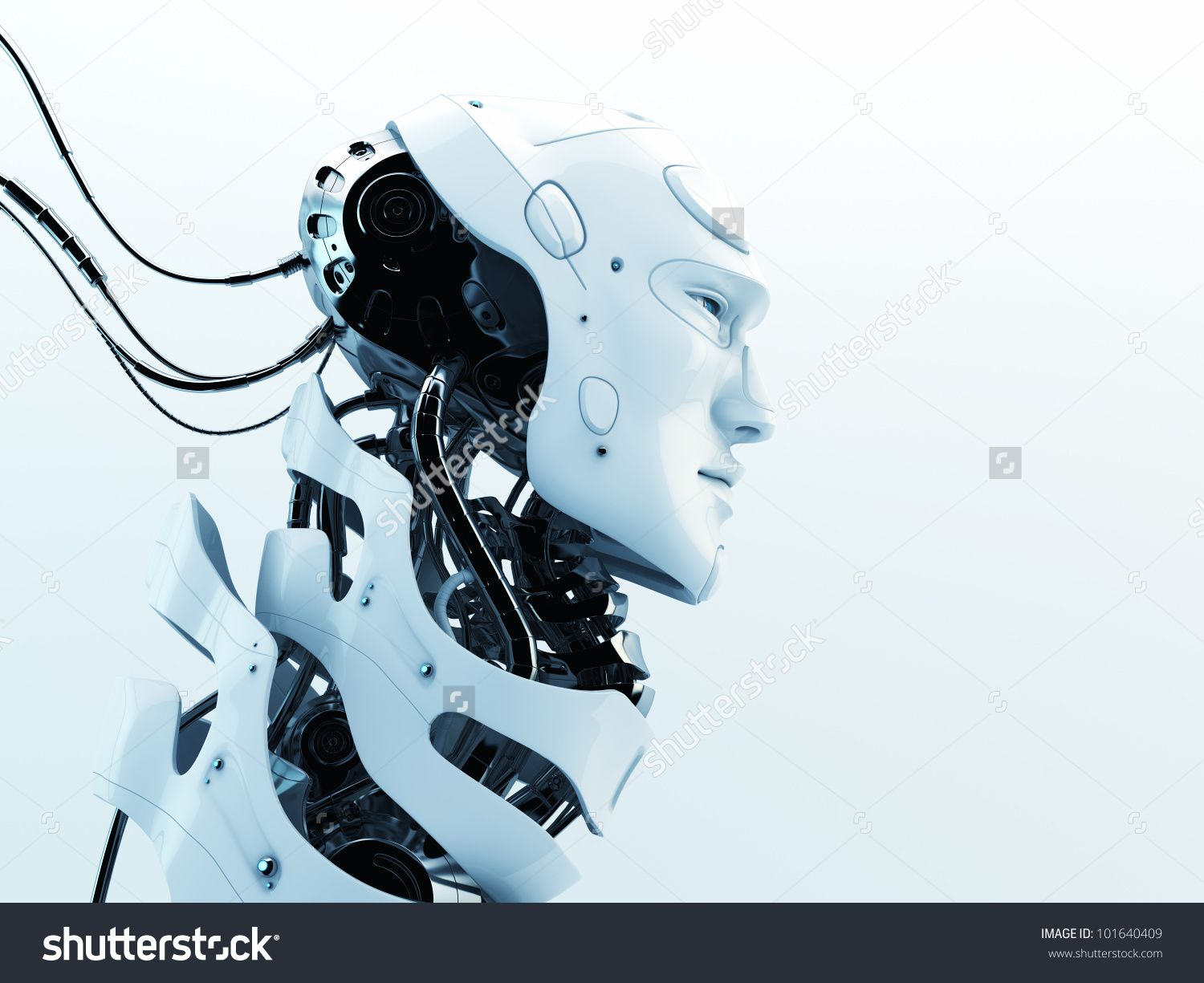 stock-photo-stylish-robot-with-wires-and-see-through-neck-skeleton ...