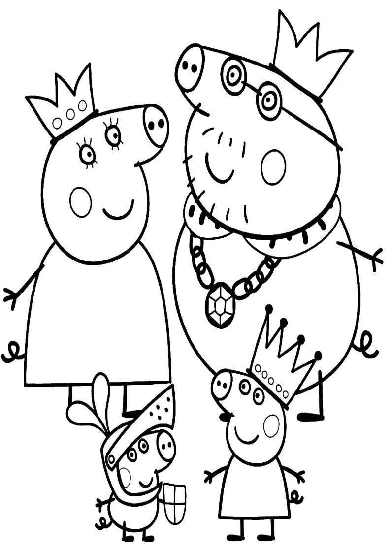 Pin By Oliwier Dymus On Kolorowanki Peppa Pig Coloring Pages Peppa Pig Colouring Family Coloring Pages