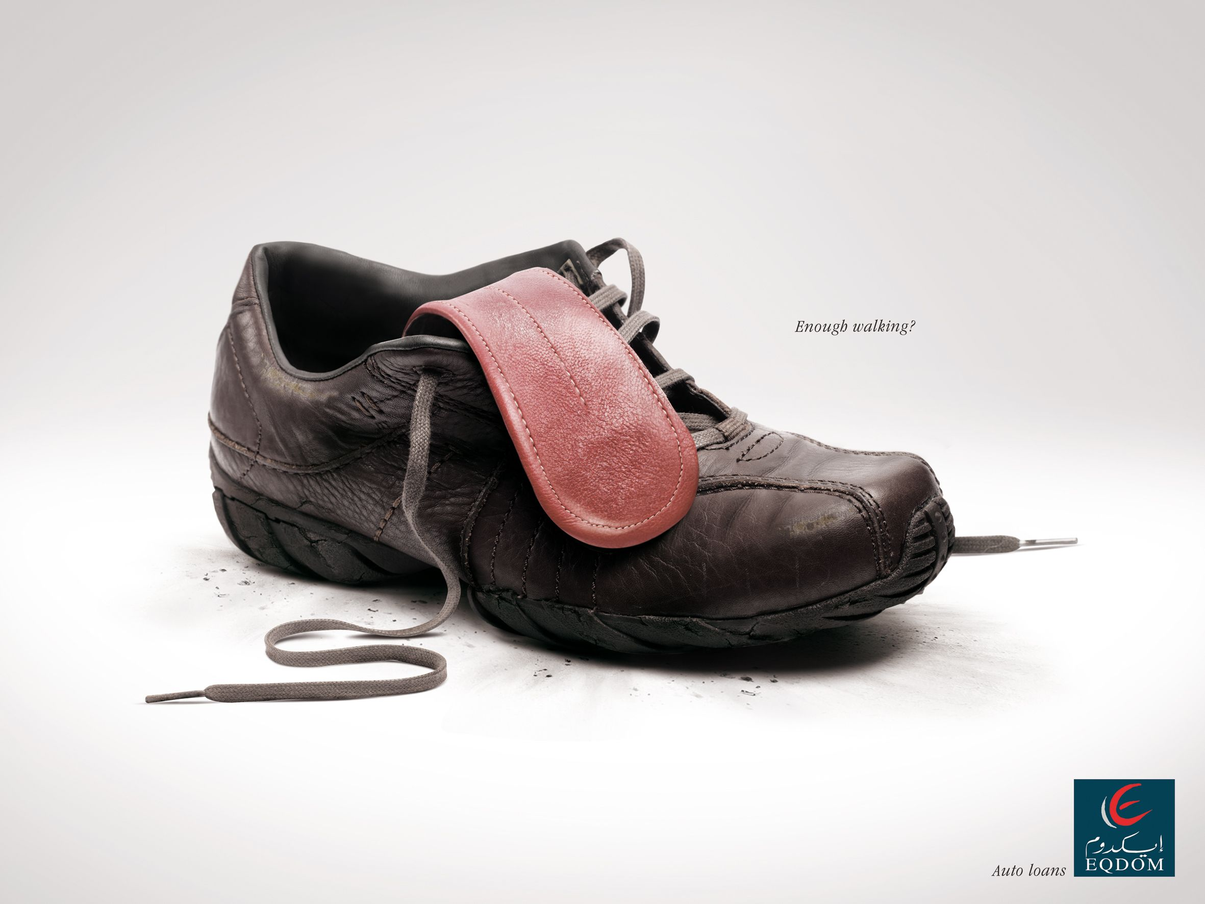 Enough walking? Eqdom auto loans.Advertising Agency: Klem Euro RSCG,  Casablanca,