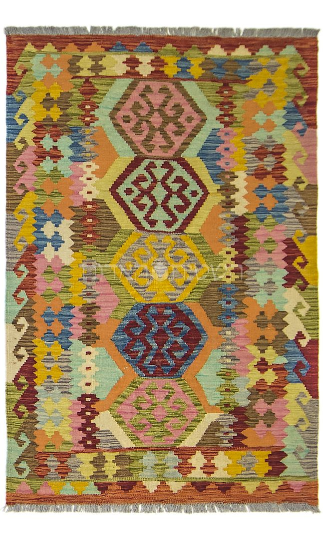 Afghan Kilim Rug Old Style Carpet Style Carpet Living Room Area