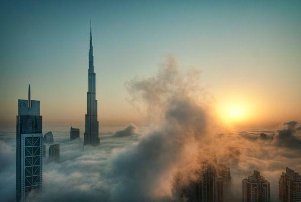 Burj Khalifa soleil