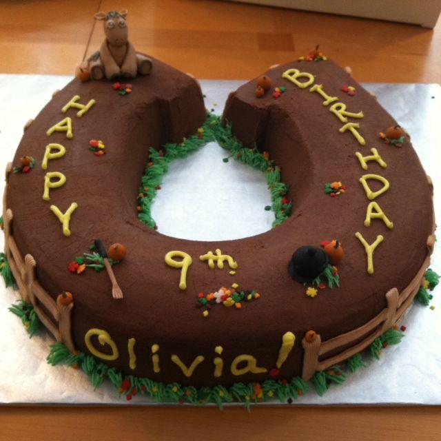 Horseshoe Birthday Cake Horse Birthday Cake Birthday Cake