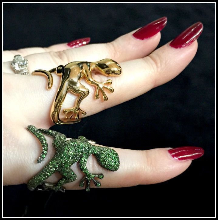 print jewelry lizard rings models ring iguana model li cgtrader stl