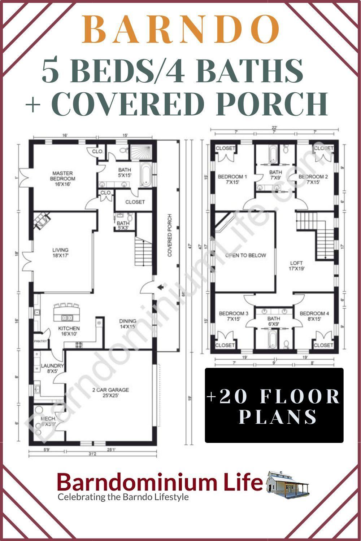 Barndominium Floor Plan Ideas