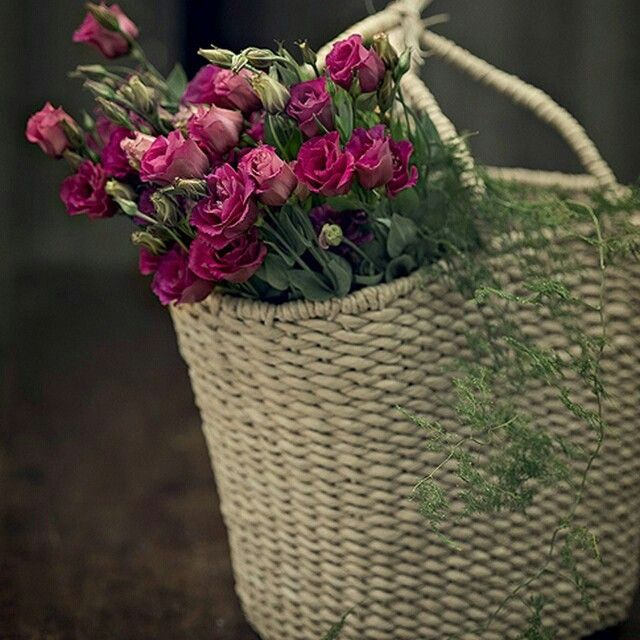 Revista Casa e Comida (@casaecomida) | Não sabe onde colocar as suas flores? Elas ficam lindas até em uma sacola de palha, no cantinho da sala #flores #amocaseirices | Intagme - The Best Instagram Widget
