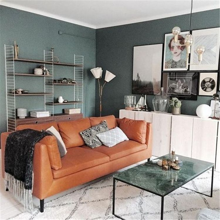 40 Simple Minimalist Living Room Wall Color Matching With
