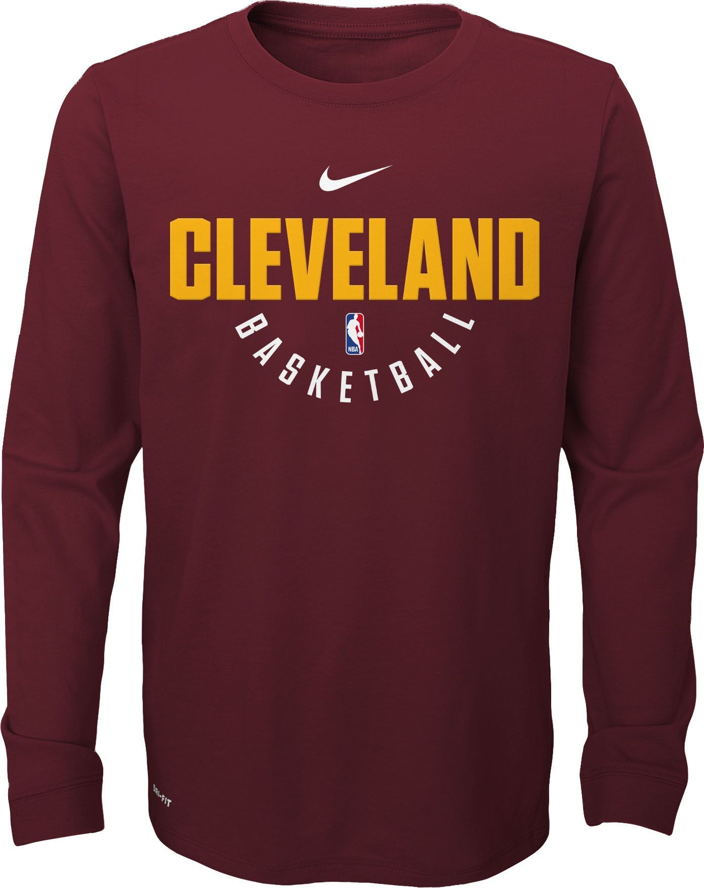 67f632485ee Nike Youth Cleveland Cavaliers Dri-FIT Burgundy Practice Long Sleeve Shirt,  Size: Medium, Team