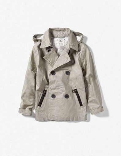 Zara Hooded Trench Coat | Kids spring jackets, Boys trench ...