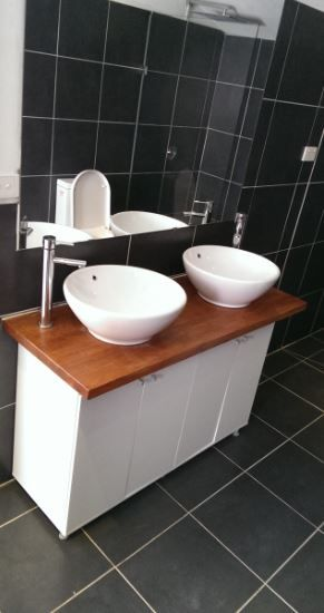 Check out this DIY guide for building a Timber Top Vanity Unit for on diy sink vanities, diy outdoor flooring ideas, diy bathrooms on a budget, diy home decor, diy bathtub, diy flooring ideas on a budget, diy firepit designs, diy showers, diy bar designs, diy concrete countertops, diy tiny bathrooms,