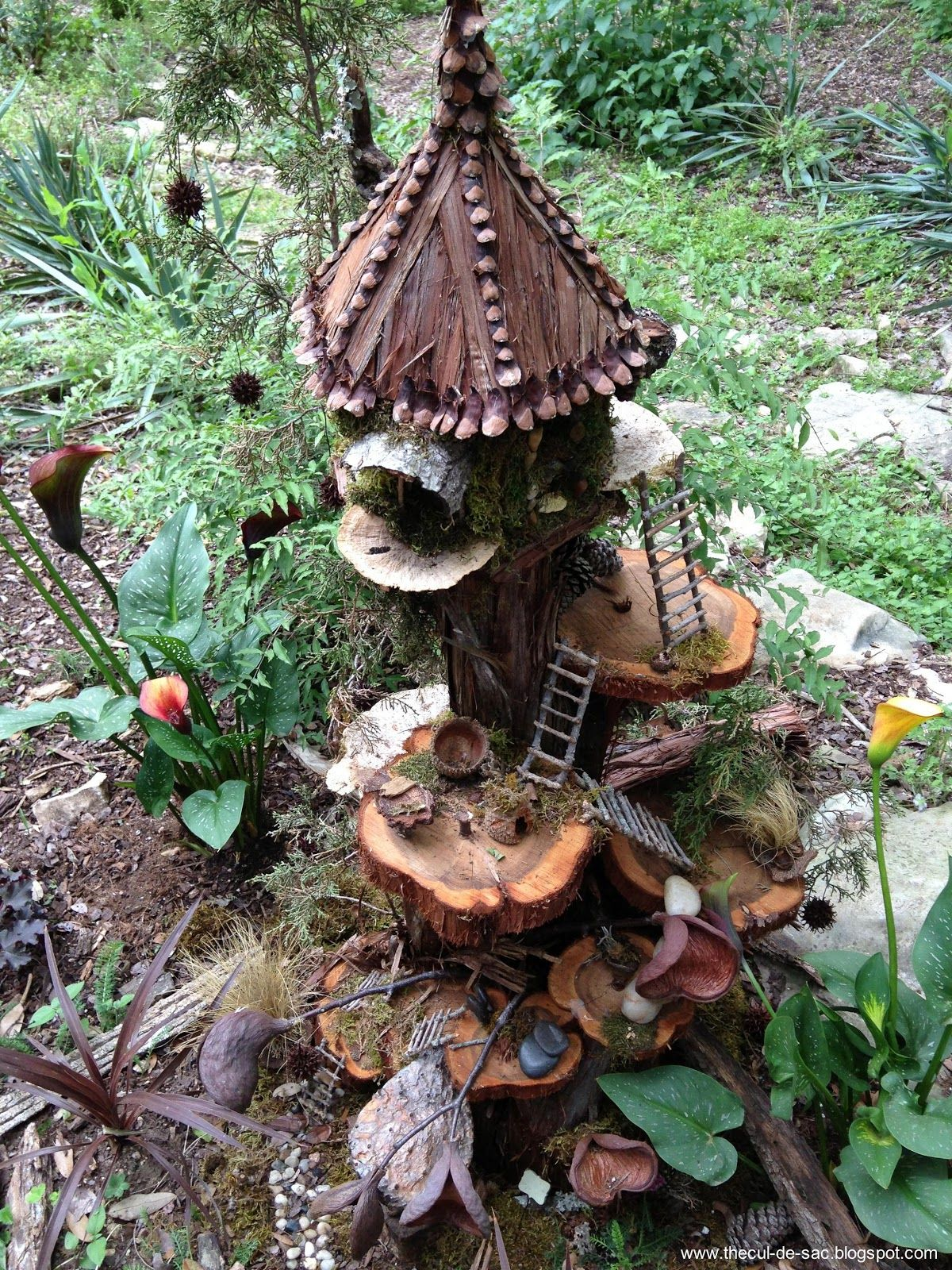 how to make a rock fairy house
