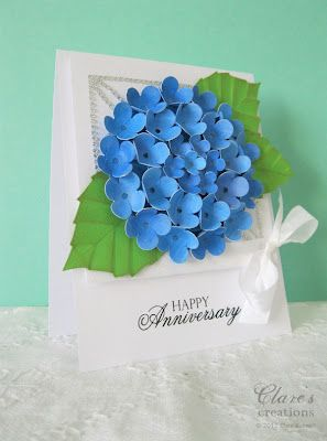 A paper blue hydrangea card i made for the nina b designs blog hop a paper blue hydrangea card i made for the nina b designs blog hop i used the small flower dies from the spellbinders home sweet home set to make the mightylinksfo
