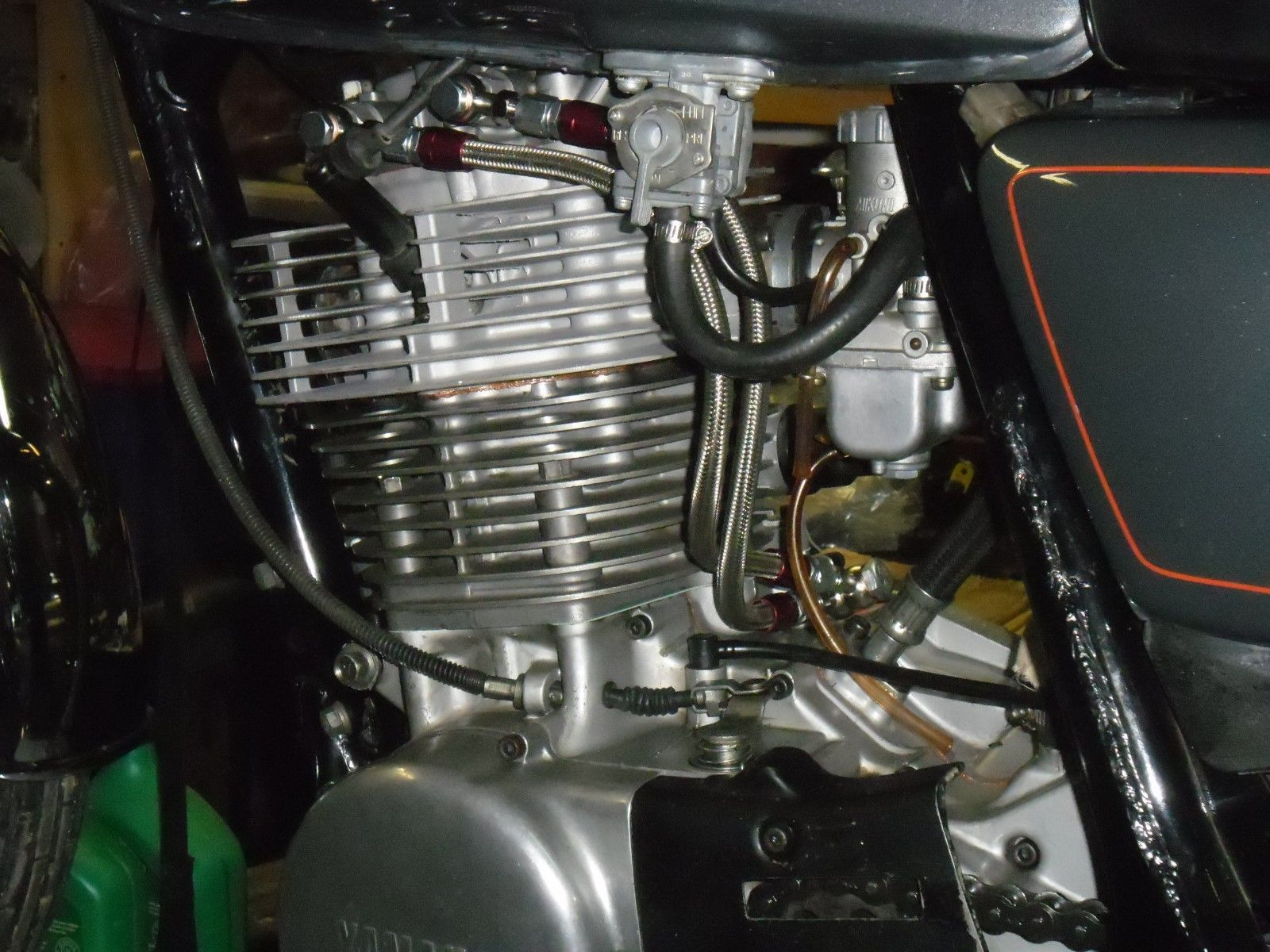 Stainless Braided Dual Feed Rocker Oil Line Yamaha Sr500 Xt500 Tt500 Hl500 Sr400 Ebay Yamaha Sr500 Rocker Yamaha
