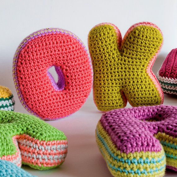 Crochet plush letters | Amigurumis | Pinterest | Letra de, Letras y ...