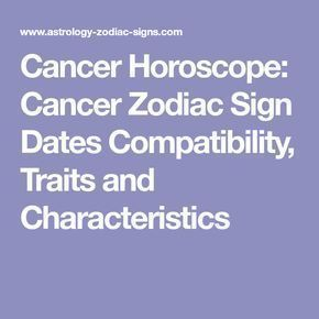 cancer dates compatibility
