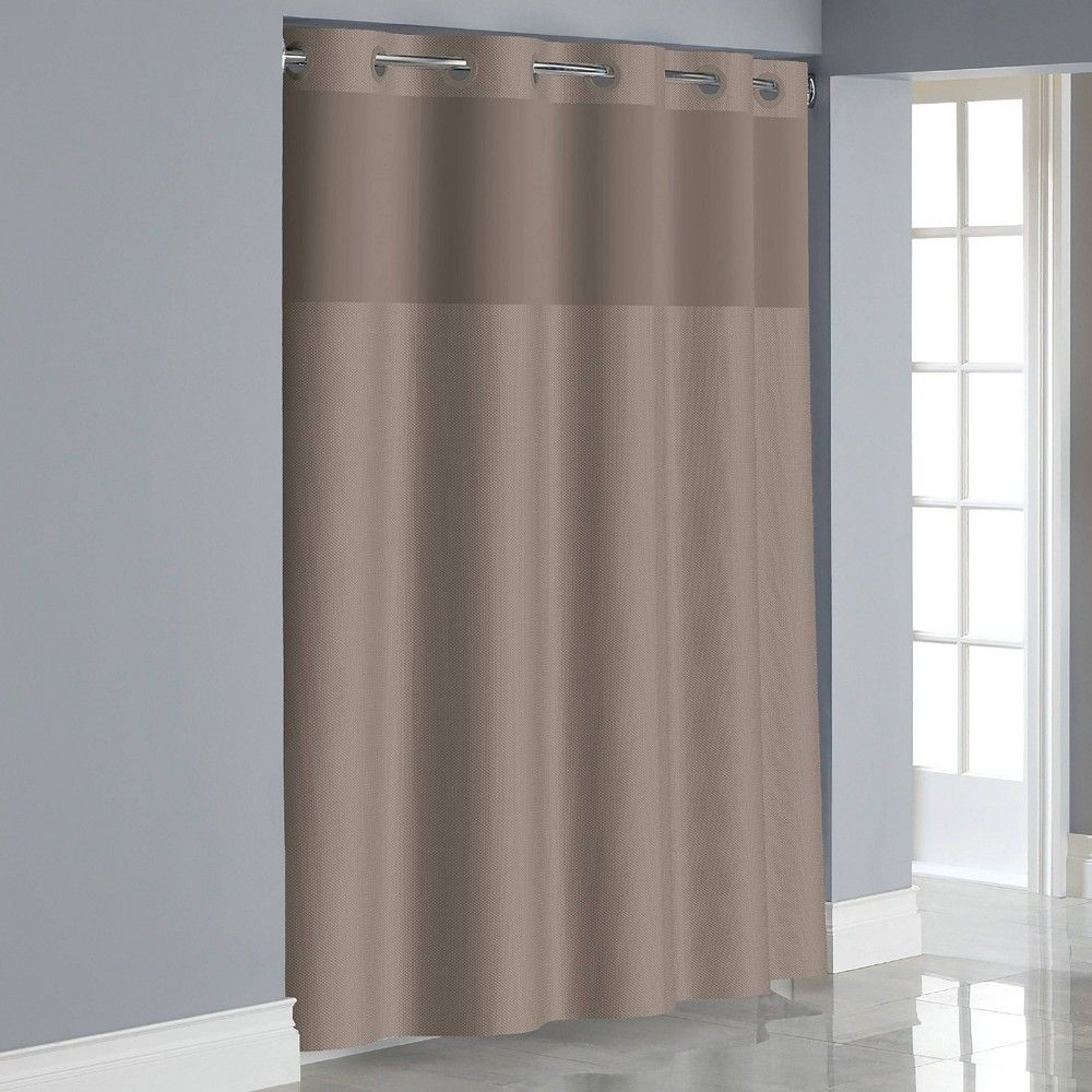 Dobby Texture Shower Curtain With Liner Taupe Hookless Curtains Hookless Shower Curtain Wash Shower Curtain