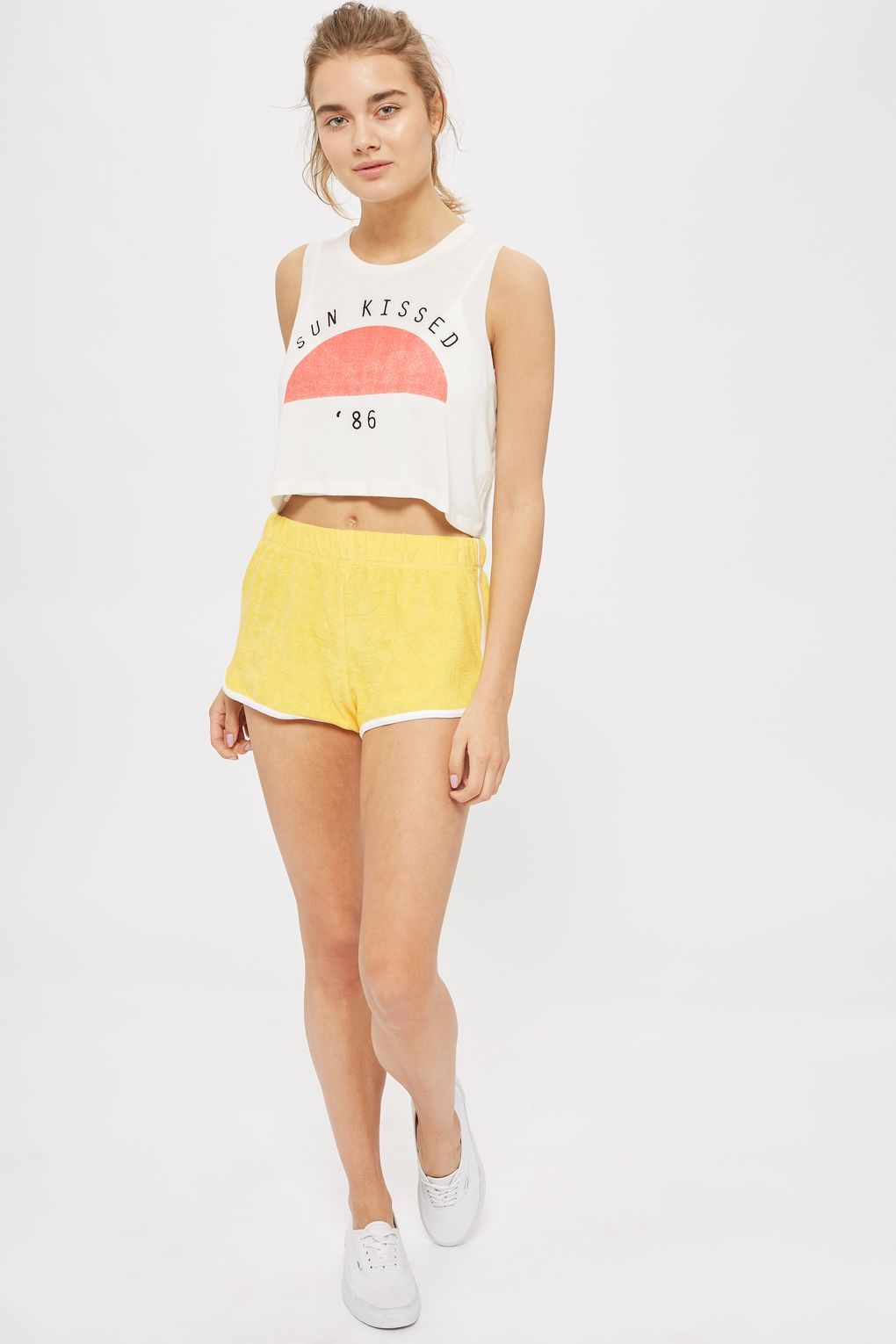 eb66ae46d02 Towelling Runner Shorts - New In Fashion - New In - Topshop Europe
