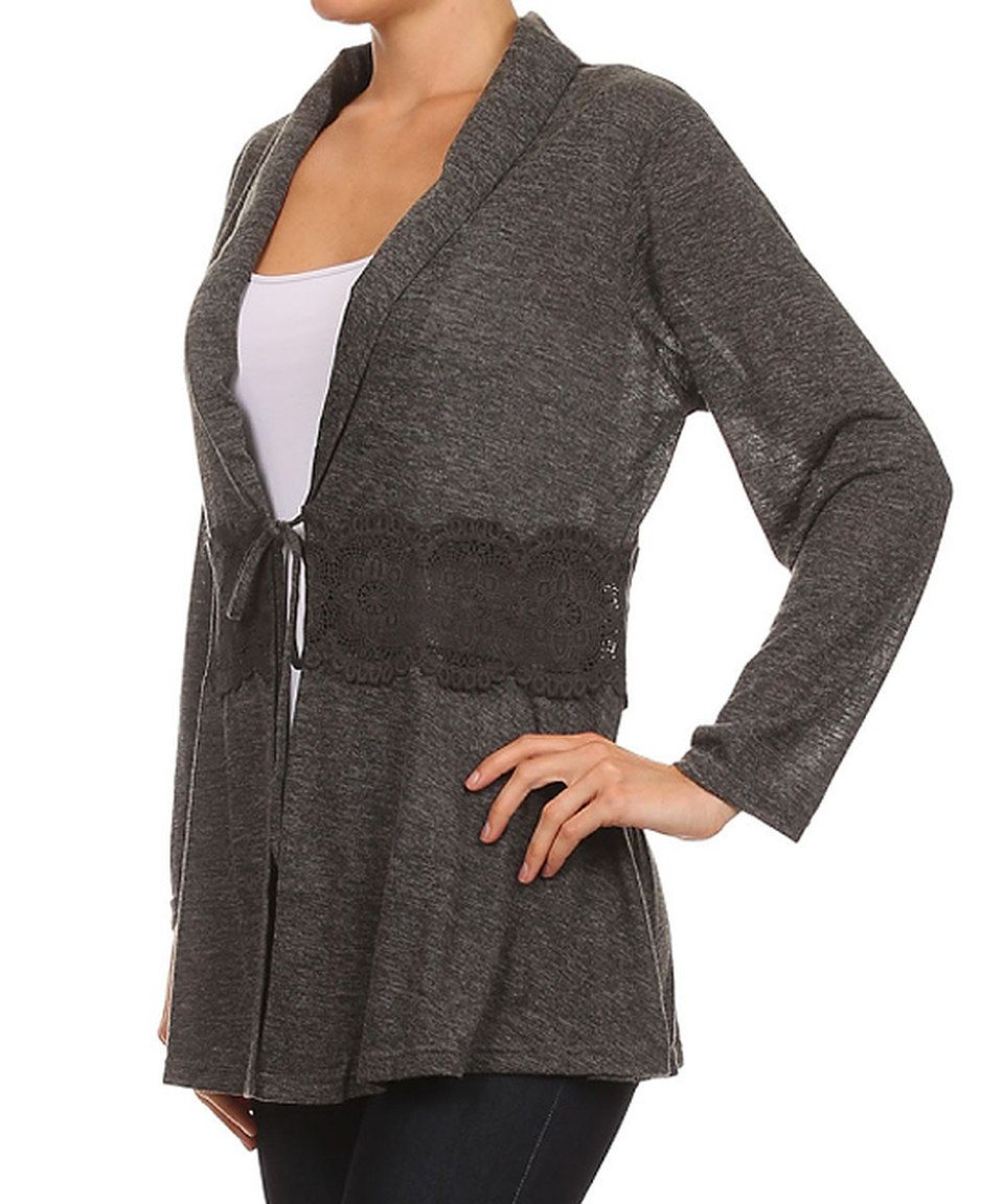 Look what I found on #zulily! Lady's World Heather Gray Tie-Waist ...