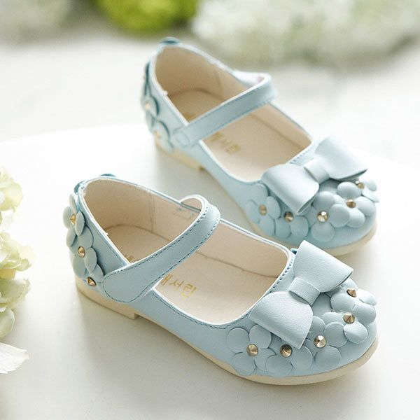 3a1e25b439491 Children Beauty Princess Sandals Girls Soft Leather Casual Flowers ...