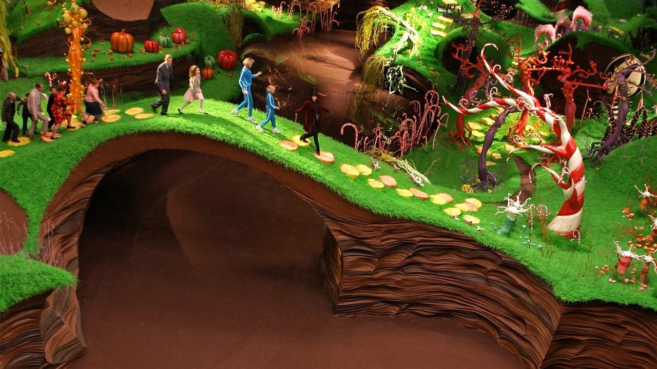 Pin von Reuben Briggs auf cinematography | Wonka schokolade,  Schokoladenfabrik, Charlie und die schokoladenfabrik