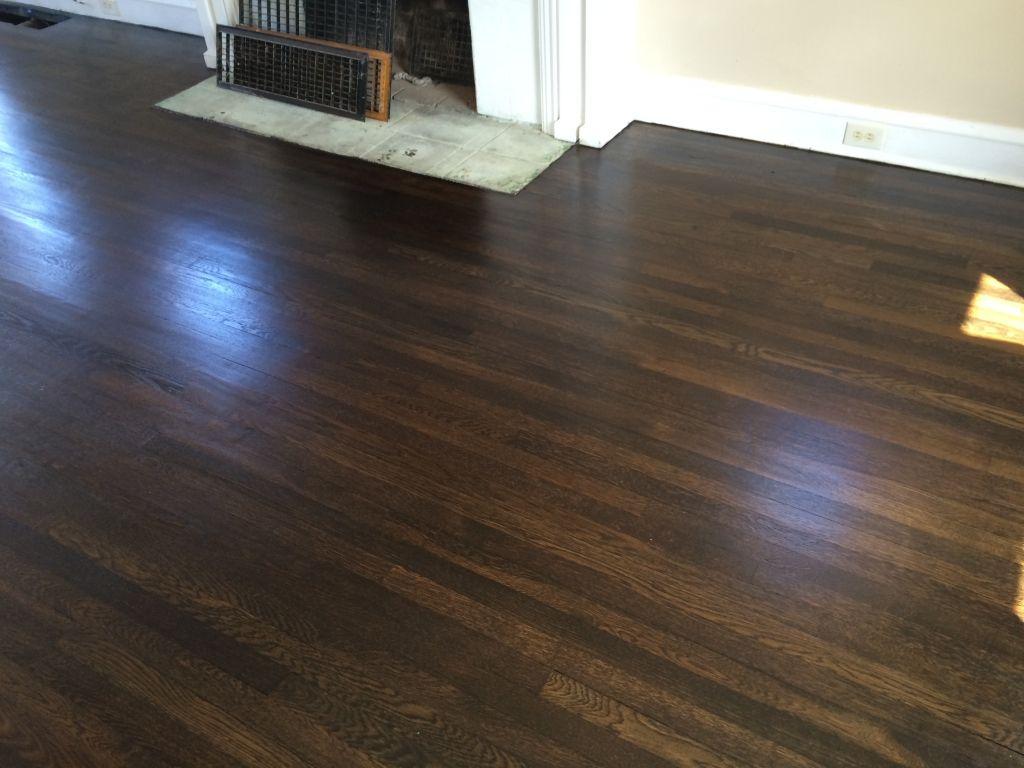Image result for refinishing red oak floors home ideas for Hardwood floors jacobean