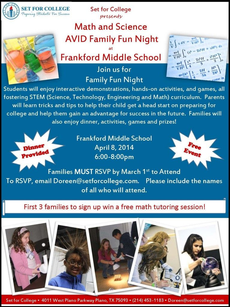 sample avid family night flyer avid night science sample avid family night flyer