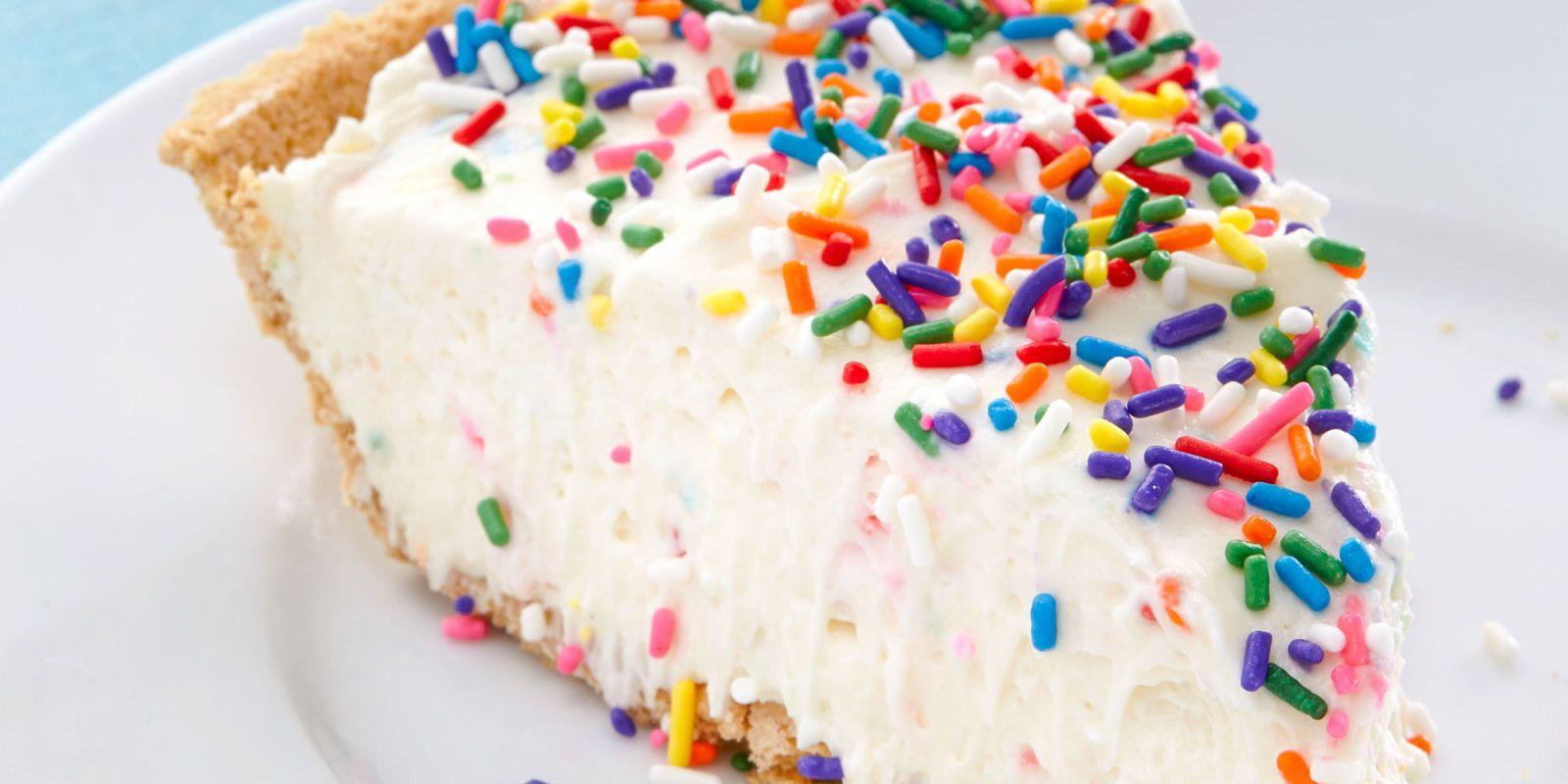 No Bake Birthday Cake Cheesecake Recipe Food Desserts