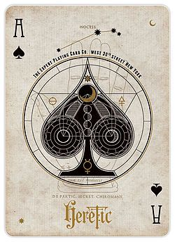 Ace of Spades from the Heretic Playing Cards deck Noctis version.