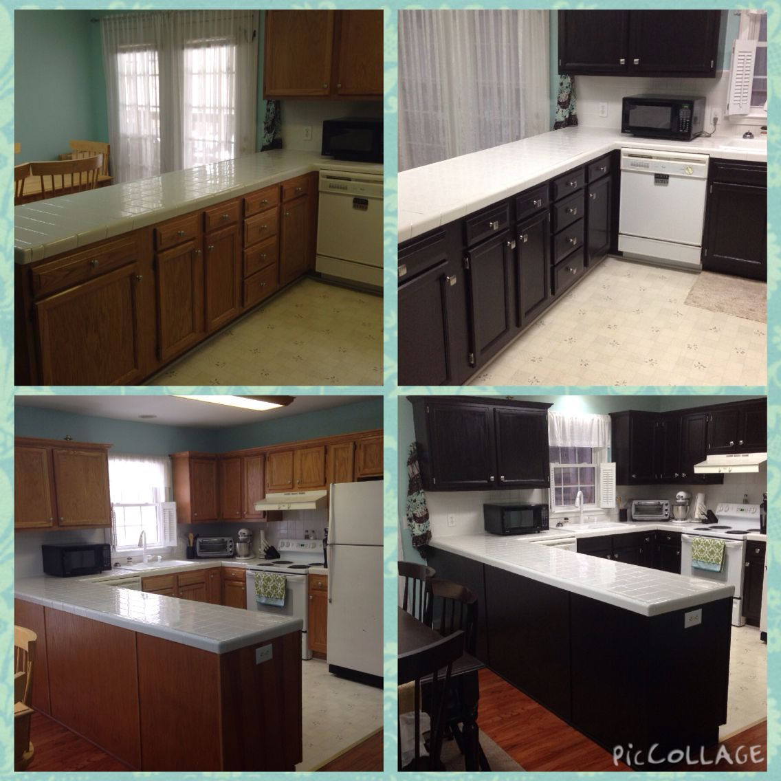 Redone Kitchen Cabinets: $200 Kitchen Cabinet Redo With General Finishes Java Gel