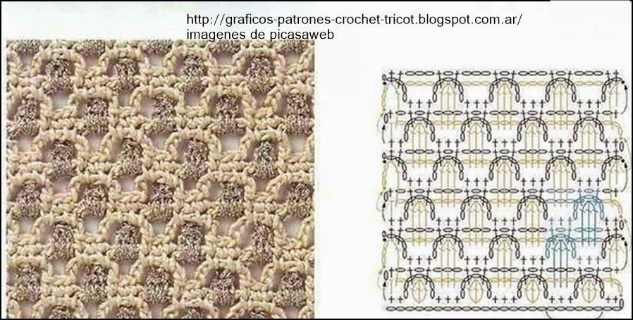 PATRONES - CROCHET - GANCHILLO - GRAFICOS: PUNTOS LINDOS PARA TEJER ...