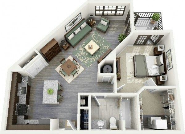 Pin By Carla Benavides On Apartment Departamento Studio Apartment Floor Plans Apartment Floor Plans Apartment Layout