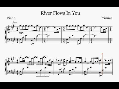 River Flows In You With Images River Flow In You Piano Sheet