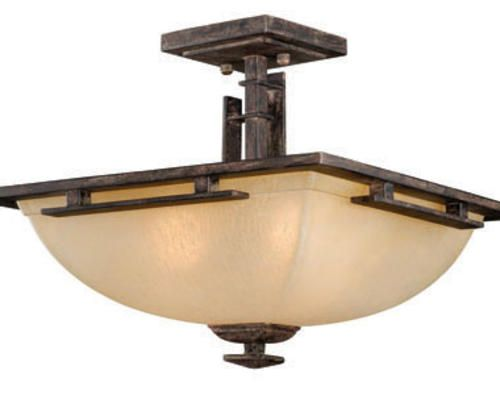 Mission Light Charcoal Chestnut Semi Ceiling LT At Menards - Kitchen ceiling light fixtures menards
