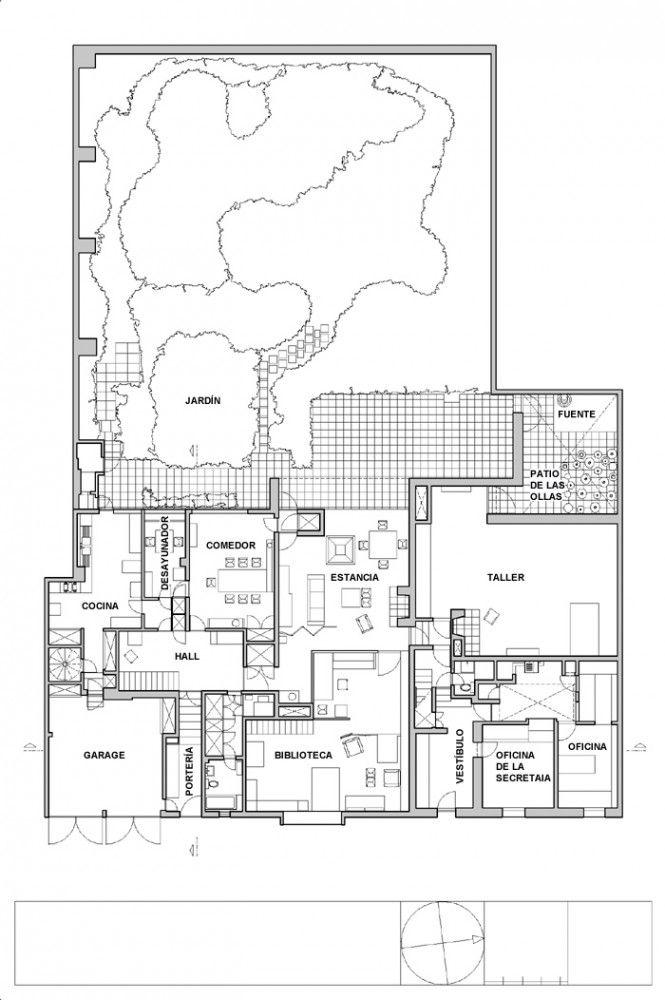 AD Classics Casa Barragan / Luis Barragan Plans maison, Plans et Cols