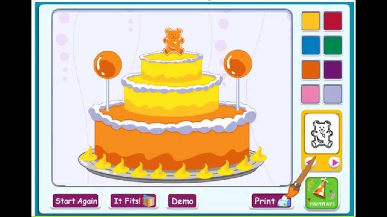Barney Happy Birthday Birthday Cake Kid Game Games For Kids