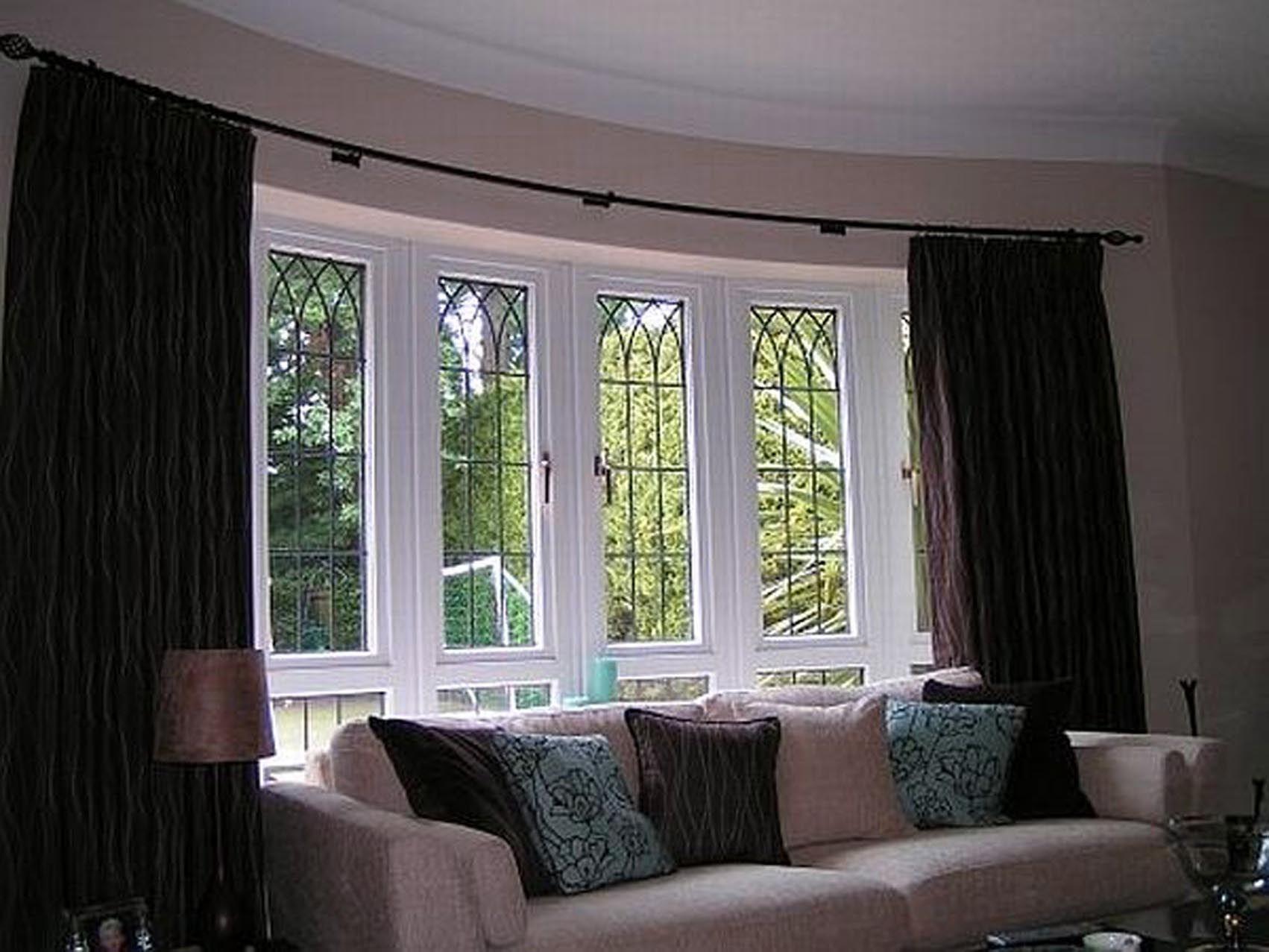 Curtains For Bow Windows Ideas  Cabinets Play An Incredibly